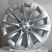 Tesla Model X 20x9.5 Rear Oem Wheel 20 Rim Silver Finish 1027245-00-c