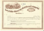 Iowa Falls And Sioux City Railroad Company....1800's Unissued Stock Certificate
