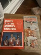 Vintage Nc State Wolfpack 70s Programs Football Basketball 76, 78, 79 Raleigh