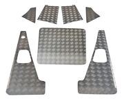 Defender 110 Set With Aerial Hole 2mm Chequer Plate Natural 2007 Onwards