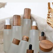 10pcs 100ml Biodegradable Wooden Cream Bottles Natural Luxury Bamboo Cosmetic
