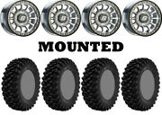 Kit 4 Superatv Xt Warrior Std 30x10-15 On Sano Beadlock Machined Nar Hp1k