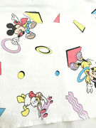 Vintage 80s Canada Disney Mickey Bed Sheet Cover Remake Fabric Minnie Donald