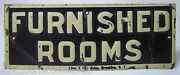 1920s Furnished Rooms Sign Allen And Van Dyke Brooklyn Ny Tin Salesman Sample