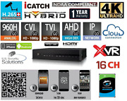 16 Channels H.265+ 4k Ultra Hd Advance Hybrid Security Recorder Xvr Onvif/audio
