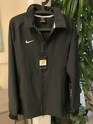 Nike Therma Midweight Jacket Ci4472-448 Black Fleece Lined Side Zippers Small