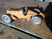 Hubley Racing Race Car Speedster Cast Iron Toy Stamped, 10and2/8l, 3.5 Wid