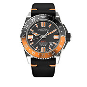Armand Nicolet Jss Menand039s Automatic Watch Gmt Black Leather