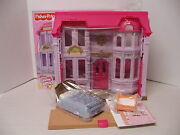 New 2010 Fisher Price Loving Family Manor Dollhouse W/bed Cradle Mom Dad Baby