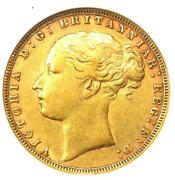 1878 Great Britain England Victoria St George Gold Sovereign Coin 1s. Anacs Xf45