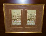 Antique Chinese Framed Silk Embroidery Sleeve Needle Work