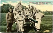 1930and039s Wentworth Military Academy Missouri Baseball Team Colorized Rppc