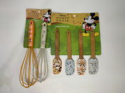 Disney Mickey Mouse Kitchen 4 Pc Spatula And 2 Pc Mickey And Minnie Whisk Sets