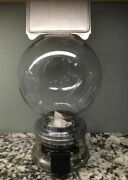 Vintage Ford Gum Gumball Machine With New Large Plastic Globe And Advertisement