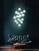 Chandelier A Led Modern Design Crystal Waterfall Glo 39547 Montefio 2