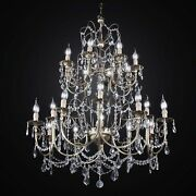 Chandelier Brass Classic 2 Floors With Crystals A 20 Lights Bga 2493-20