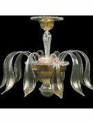 Ceiling 3 Lights Murano Of Venice Original With Warranty Made In Italy 7395 / Pl