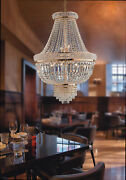 Chandelier Classic Gold With Crystals 7 Lights Lgt Prague Sp7 D.21 11/16in