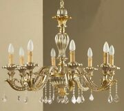 Chandelier Wooden Classic A 8 Lights Coll Holder 735/8