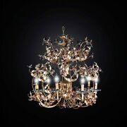 Chandelier Classic Wrought Iron And Crystal 6 Lights Bga 2839/6