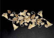 Ceiling A 6 Lights Wrought Iron Murano Ivory-gold Coll.pre Art.pl130/6