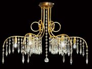 Ceiling Classic Iron And Crystal 6 Lights Coll. Bga 1448 Design Op