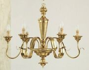 Chandelier Wooden Classic A 6 Lights Coll Holder 750/6
