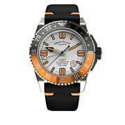 Armand Nicolet Jss Gmt Silver Leather