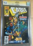 Cable 1993 Series 70 1999 Marvel Cgc Ss 9.6 Graded Signed Joe Casey Signature
