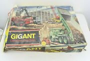 Vintage Litho Tin Toy Technofix Gigant Construction Site Made In Germany Toy