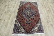 Old Handmade Persian Rug, Medallion Design 177 X 90 Cm Hand Knotted Wool Rug