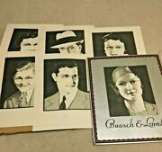 Vintage 1930and039s Cardboard Bausch And Lomb Eye Glasses Display Sign Faces Changable