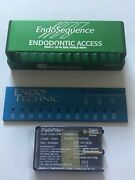 Lot Of Brasseler Endosequence Burs Blocks With Endo Ruler 2 Pathfiles.