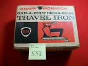 Vintage Collectible Knapp Monarch Gad-a-bout Steam-spray Travel Iron 17-563 Exc