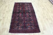 Old Handmade Persian Tribal Rug With Tree Of Life Design, 197 X 107 Cm
