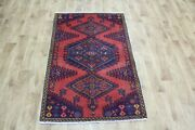 Old Handmade Persian Rug, Medallion Design 142 X 90 Cm Hand Knotted Wool Rug