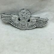 Vintage Military Patch Usaf Air Force Master Crew Member Bullion Wings