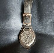 Early Antique Motorcycle Watch Key Fob 1900 1910 Race Medal Harley Indian Biker