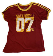 The Wizarding World Of Harry Potter Gryffindor Quidditch Jersey Shirt Size M