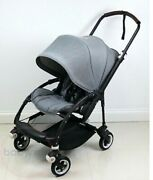 Bugaboo Bee 5 Black With Gray Canopy And Extra Beige Canopy