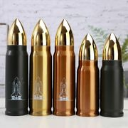 1000ml Bullet Thermos Vacuum Insulated Flask For Army Coffee Bottle Portable Tra