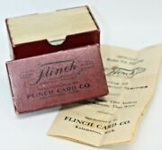 1913 Flinch Parlor Card Game Complete With Box Rules And All Cards M607