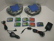 ×2 Leapfrog Leapster 20200 Multimedia Learning Systems With Games And Power Supply