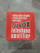 Vtg Nuvox Telephone Amplifier No. 978, Box And Instructions, Telephone Collectible