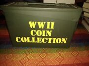 Wwii Coin Collection Set Of 50 Coins With Ammo Box Holder Rm New Queensland Mint