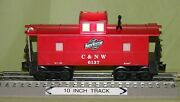 K-line 6137 Chicago And North Western Illuminated Caboose O/027 Wks W/ Lionel 89