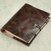 Quality Vintage Genuine Leather Notebook   Luxury Inner Notepad Leather Diary