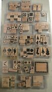 Stampand039in Up 218 Piece 39 Sets Lot 1990s-2000s Wood Rubber Stamps Retired Stampin