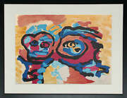 Karel Appel Mother And Little Boy Lithograph On Arches Signed In Pencil