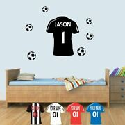 Custom Personal Bedroom Football Childrens Name Wall Art Decal Sticker